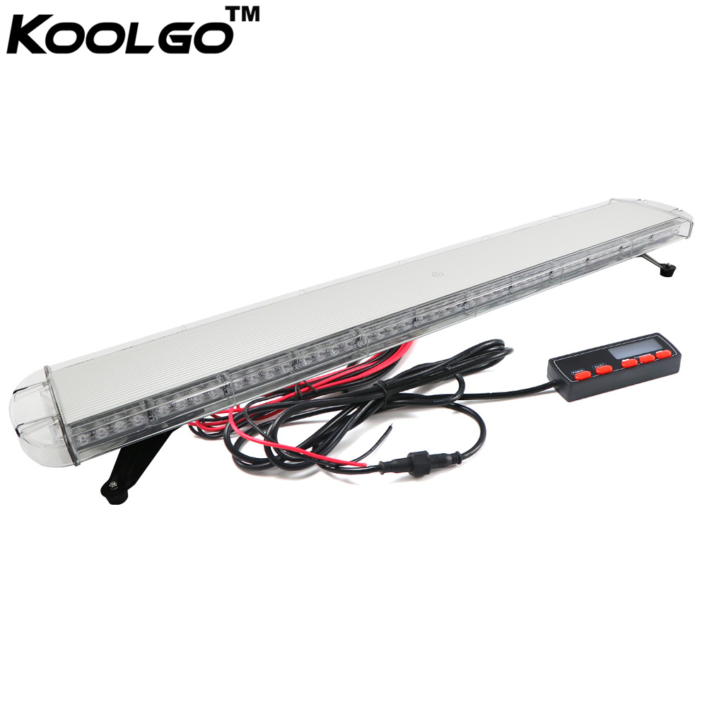 KOOLGO 55 inch 1 4M Rooftop Strobe Light Bar 104 LED Car Truck Towing Work Flash