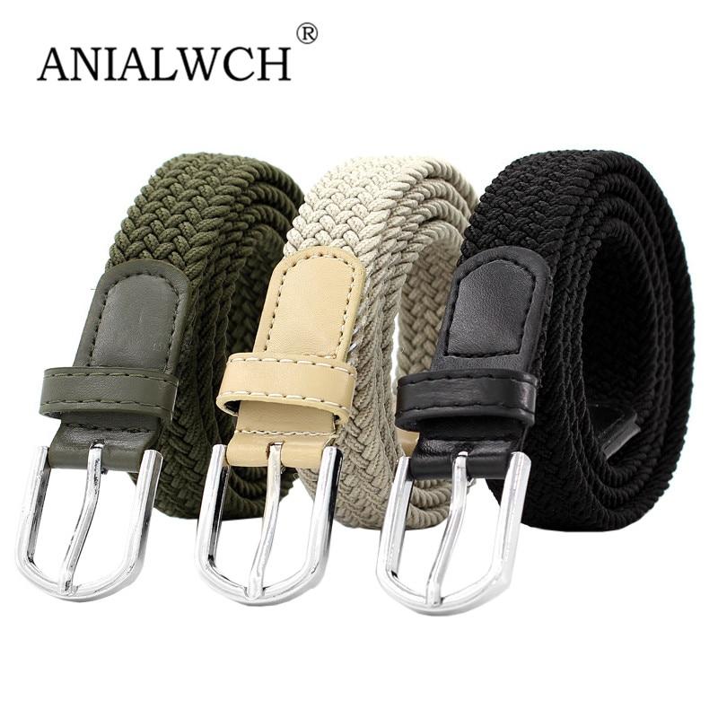 110x2.6cm New Design Woman Elastic Braided Belt Female 2020 Elastic Mixed Weave Belts For Women Jeans Belts Cinto Feminino F128