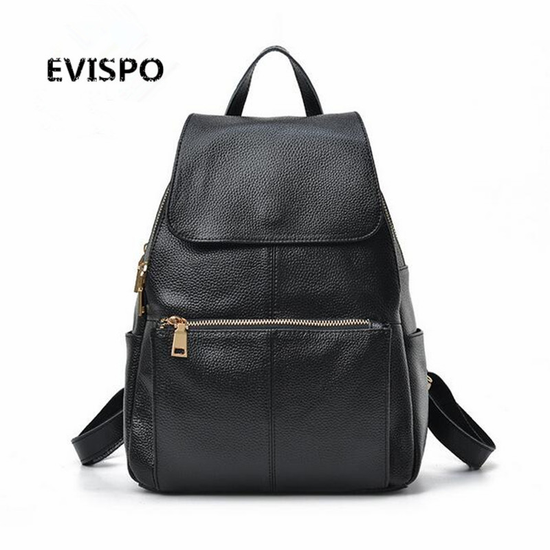 Women Backpack Genuine Leather Bags Famous Brand Small Backpacks For Teenage Girls Real Leather Fashion Backpacks Female Mochila 20pcs lot d496 to 252