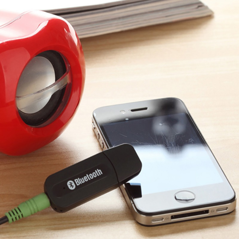 Mini Car Music Wireless Bluetooth Receiver Audio Adapter 3