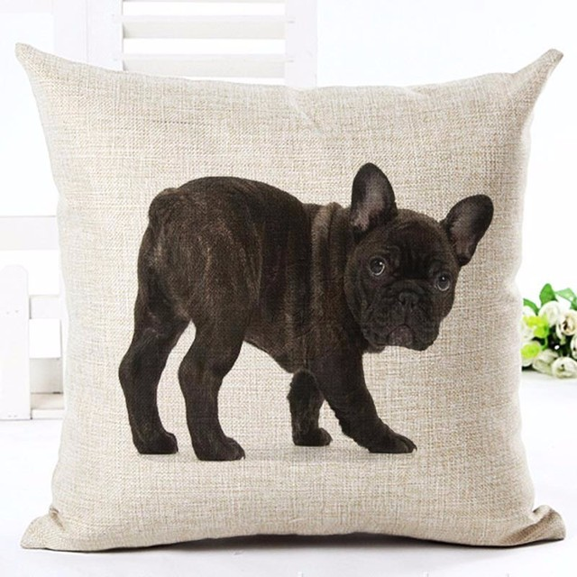 French Bulldogs Printed Square Pillow Case