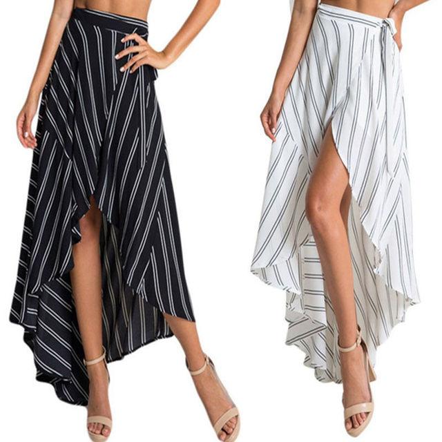 576e4213fd New Fashion Women Summer Long Maxi Skirts Boho Evening Party Beach Casual  Women Clothes Skirt