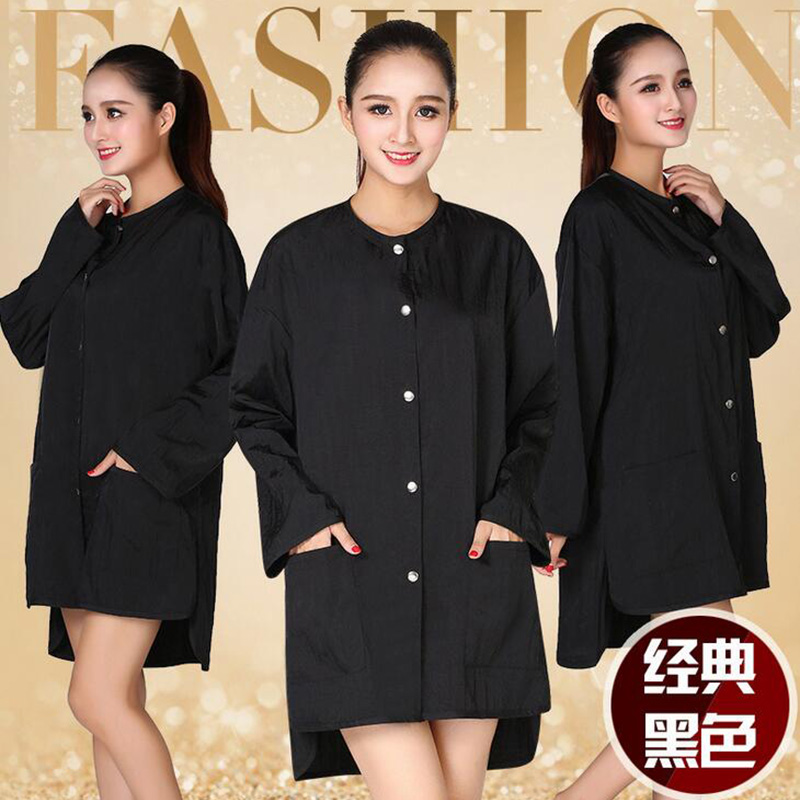 1pcs Professional Hairdressing Beauty SPA Gown Snap-fastener Robe Hair Capes Styling Barber Salon Hairdresser Wraps Cloth