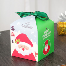 20 PCS/Set Merry Christmas Colorful Box Bag Gift With Ribbon Bow Paper Container Supplier