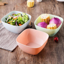 5 PCS/LOT Food Grade PP Square Shape Salad Bowl Creative Kitchen Accessories Fruits Bowl 14x14x6.5cm
