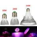LED Plant Grow Light Blub E27 18W/28W/54W Aluminum Efficient Full Spectrum Growth Lamp Blub For Greenhouse Hydroponics Veg Plant