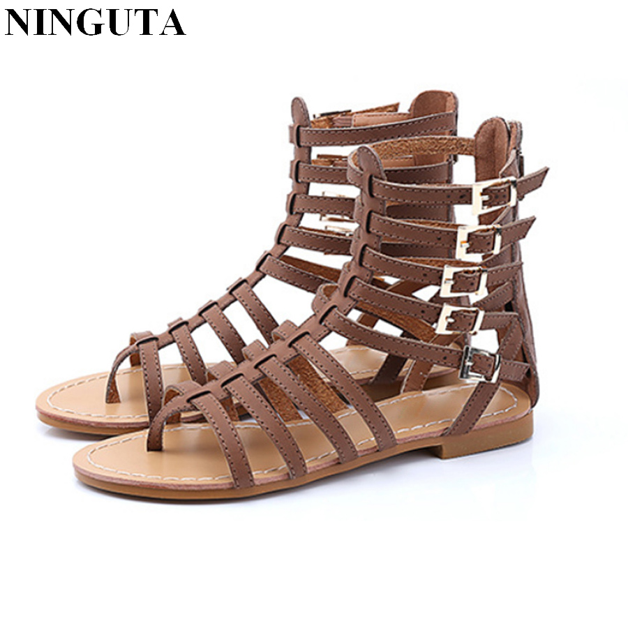 Aliexpress.com : Buy Fashion flat gladiator sandals women ...
