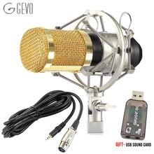 2015 Professional BM-800 Condenser KTV Microphone Cardioid Pro Audio Studio Vocal Recording Mic KTV Karaoke+ Metal Shock Mount