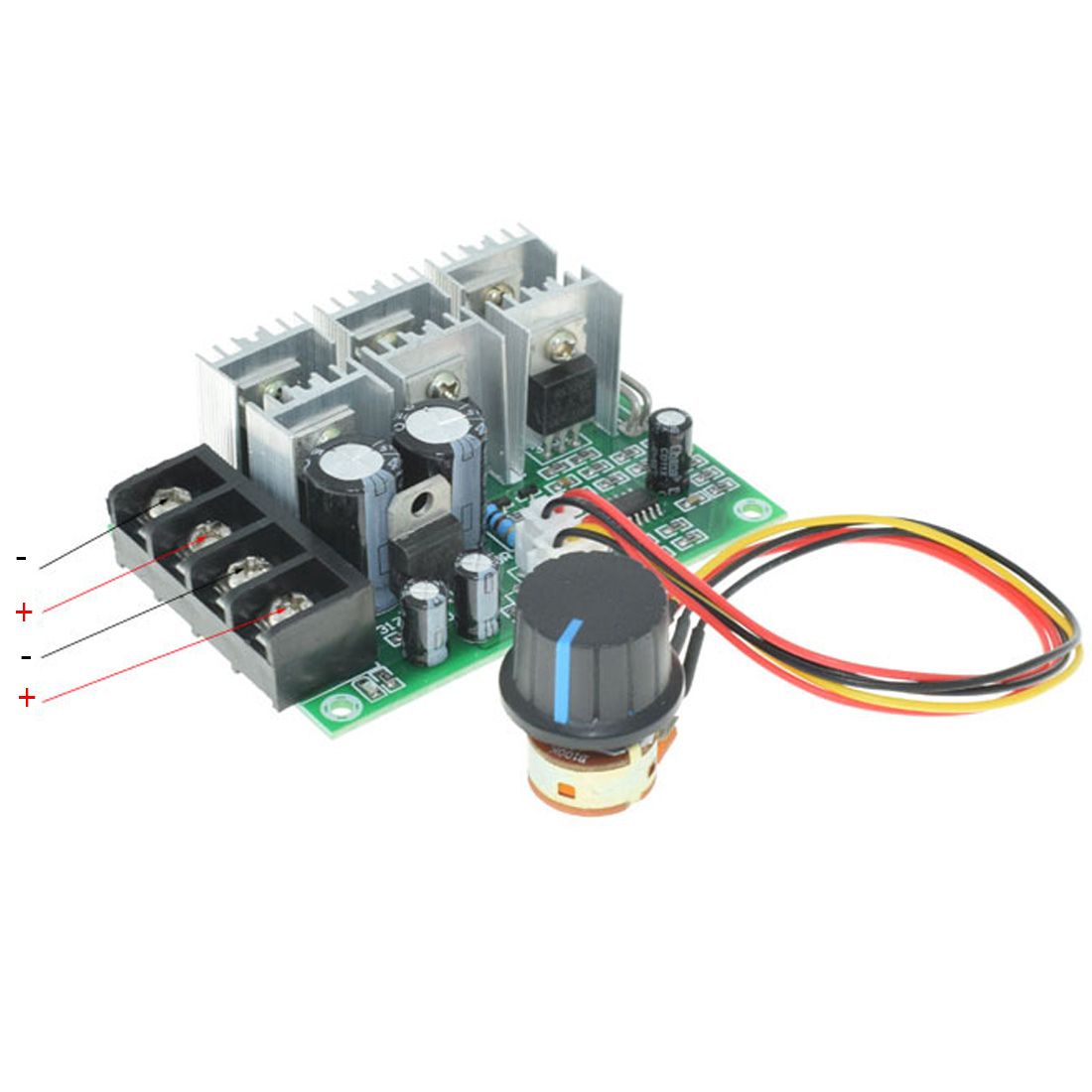 Low Voltage Protection Motor Speed Governor  12/24/36V Soft Start Plugging Protection Motor Speed Controller DC Brushes RetarderLow Voltage Protection Motor Speed Governor  12/24/36V Soft Start Plugging Protection Motor Speed Controller DC Brushes Retarder