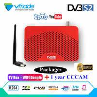 Récepteur numérique TV Tuner TNT S2 Satellite Récepteur IPTV M3u Youtube DVB-S2 Newcam + USB WIFi + 1 an CCCAM 7 Cline pour l'espagne