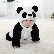 2016 New Baby Animal Costume Onesie Panda Climbing Pajamas Romper font b Jumpsuit b font Coverall