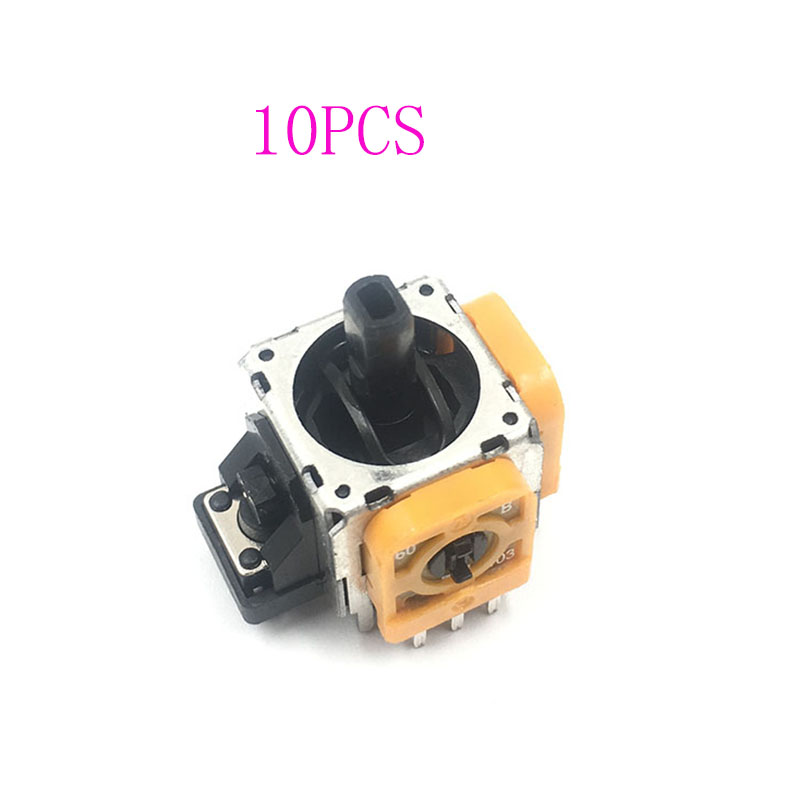 10PCS Yellow Original 3D Joystick Axis Modulo Sensore Analogico For Playstation 4 PS4 Controller