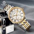 Relojes de cristal de zafiro de moda para mujer, marca de lujo de cuarzo de reloj de pulsera, reloj de estrás de acero inoxidable para mujer, reloj femenino
