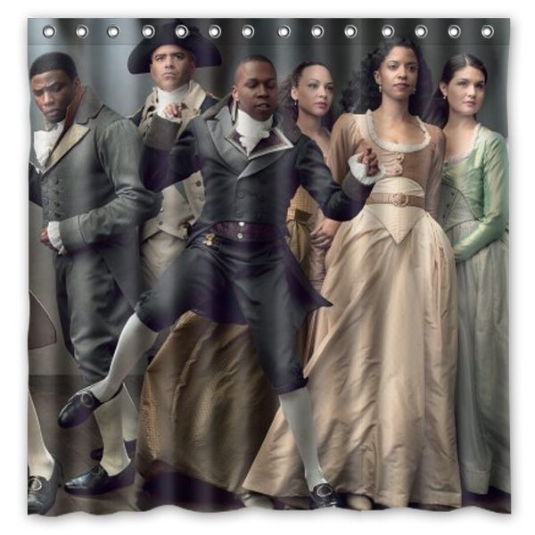 Hamilton Broadway Musical Bath Shower Curtain 180x180cm Fashional Waterproof Polyester Bathroom Curtains Include 12 White Hooks In From Home