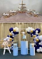10pcs grand birthday backdrops metal rack stand Cake Pillar cylinder pedestal for party hotel bar cake shop flower dessert decor