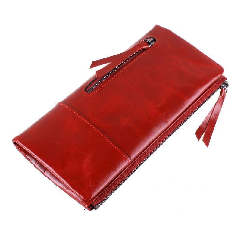 2016 Hot Sale Genuine Leather Wallet Women Fashion Real Cowhide Wallet Long Design Clutch Female Purse Bag Portefeuille Femme