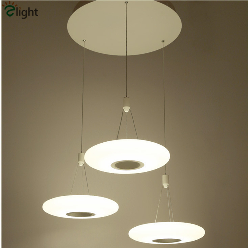Modern Simple Round Led Pendant Chandelier Lighting Lustre Acrylic Dining Room Led Hanging Lights Bedroom Led Chandeliers Lamp new 2018 indoor