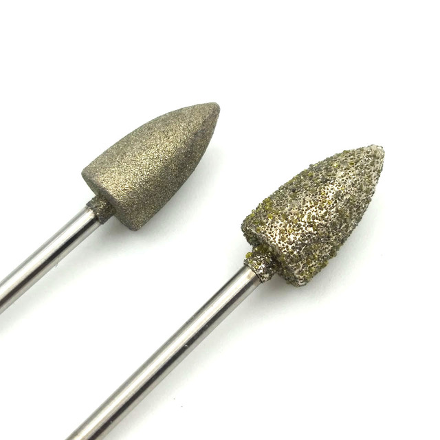 "HYTOOS Big Diamond Nail Drill Bit 3/32"" 3 Grit Pedicure Bits Rotary Burr Manicure Cutters Drill Accessories Pedicure Care Tools 5"