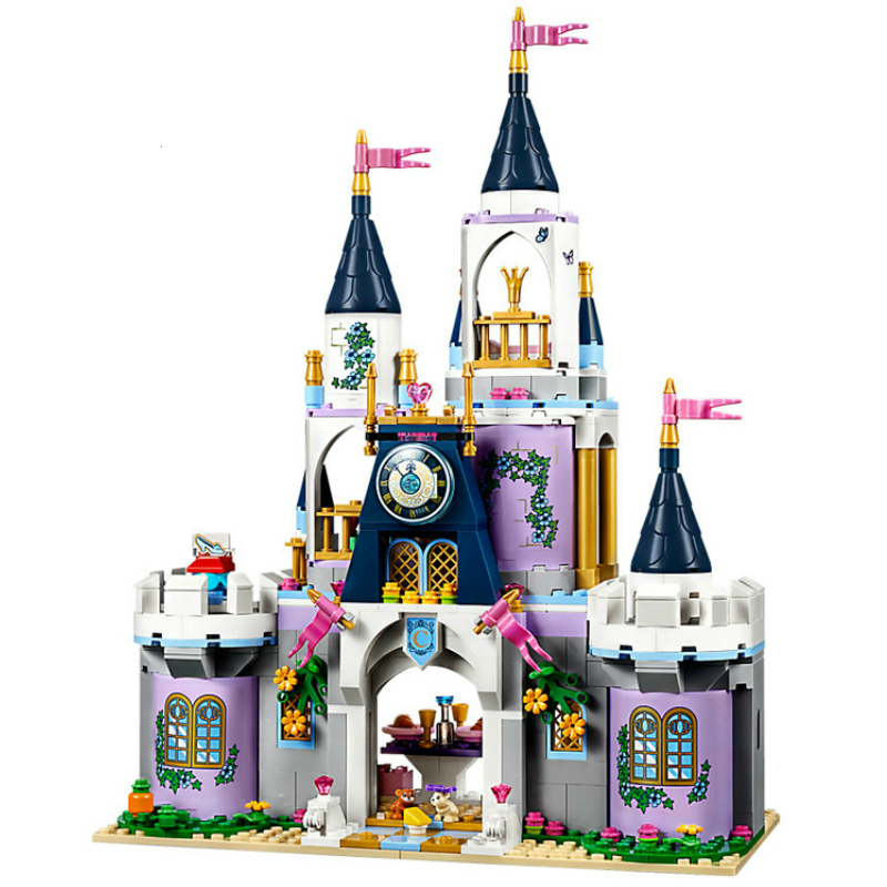18 Style Princess Dream Castle Building Blocks Elsa Anna Cinderella Ariel Belle Model Bricks Compatible with