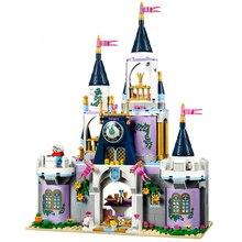 18 стиль принцесса мечта замок строительные блоки Эльза Анна Золушка Ариэль Belle Модель Кирпичи совместимы с Legoe друзья