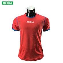 Горячие JOOLA рубашка для настольного тенниса с коротким рукавом рубашка для бадминтона молодых Для мужчин быстросохнущая Спортивная пинг-понг Костюмы для мужчин и женщин