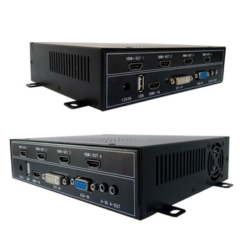 2x2 hdmi video wall controller for lcd video wall hdmi output vga dvi hdmi usb input