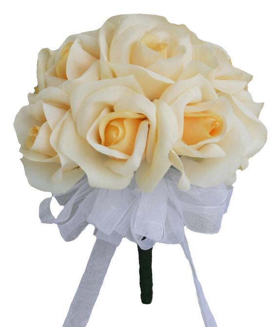12 Viola Rose-fiore Di Seta Bouquet Da Sposa Damigella D'onore Bouquet Di Fiori Da Sposa De Mariage Rosa Né Troppo Duro Né Troppo Morbido