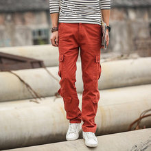 Pocket Leisure Cargo Pants Men Military Style Solid Color Fashion Cargo Pants