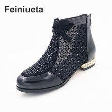 2017 temporada nueva netas fresco botas de moda de diamantes arco neto hilados de las mujeres botas de cuero zapatos de las mujeres sandalias de las mujeres más tamaño 35–43