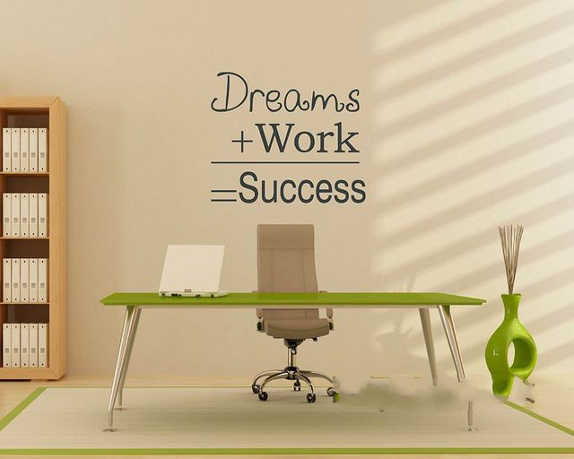 Famous quote dreams work success motivational wall sticker dream work success diy decorative inspirational office wall