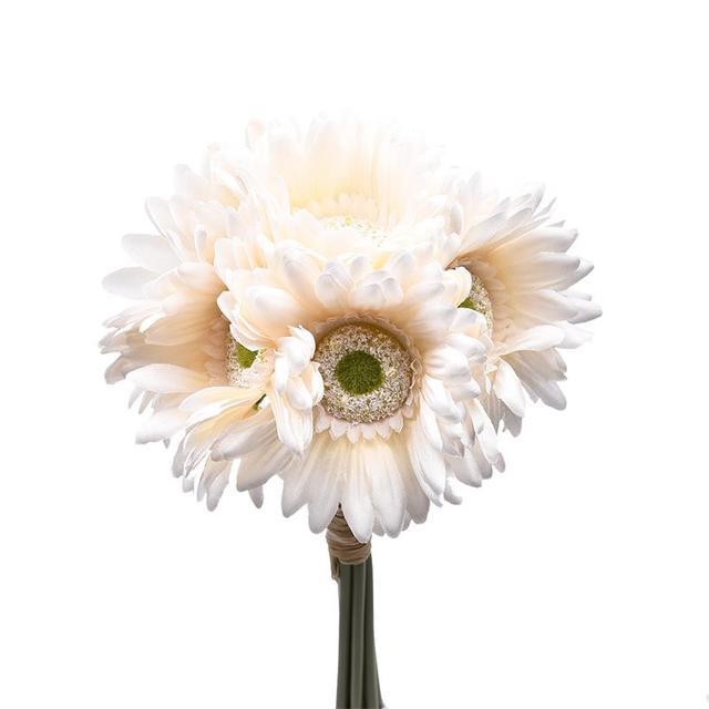 New 7pcpack Artificial Gerbera Daisy Heads Silk Flower For Diy Home