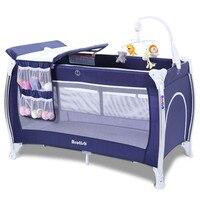 Модные детские кроватки multi Functional Европейский Детские кроватки с колесом складной складная кровать для игр для новорожденных Спящая кроват