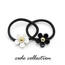 2pcs/set Flower Acrylic Daisy Elastic Hair Bands Sun Cute For Women Girl Kids Sweet Accessories Christmas Gifts