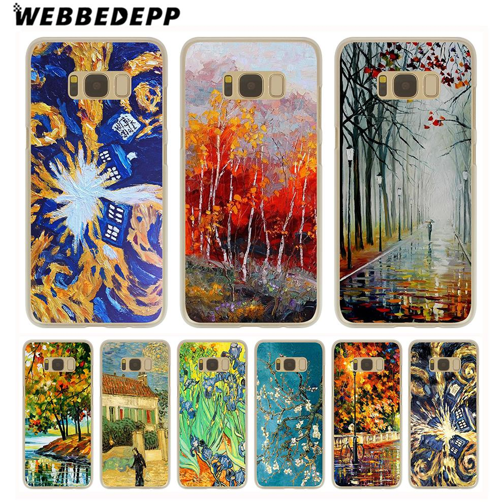 Amiable Webbedepp Selling Doctor Who Van Gogh Tardis Hard Transparent Phone Case For Galaxy S6 S7 Edge S9 S8 S10e Plus S5 S4 S3 Cover Phone Bags & Cases Half-wrapped Case