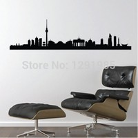 Berlin Germany Skyline - Famous Landmarks Removable Wall Decor Decal Sticker 2017 Fashion Free Shipping