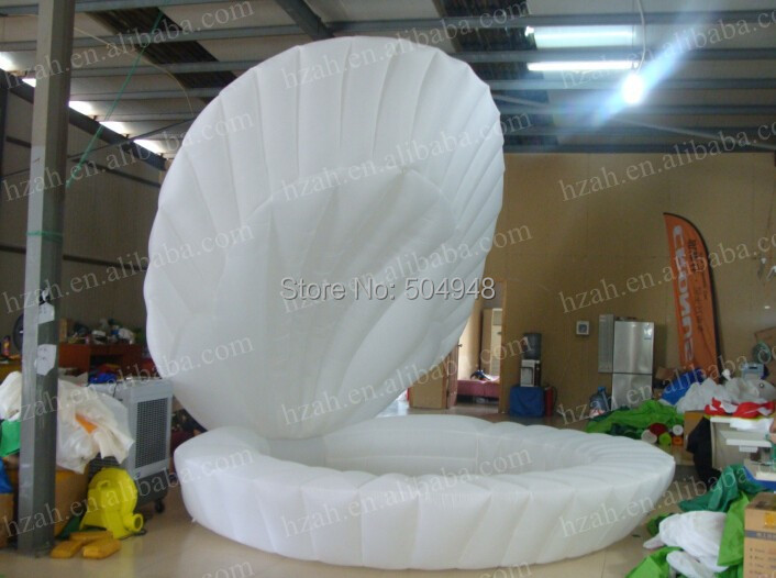 Wedding Decoration Inflatable Shell Model environmentally friendly pvc inflatable shell water floating row of a variety of swimming pearl shell swimming ring