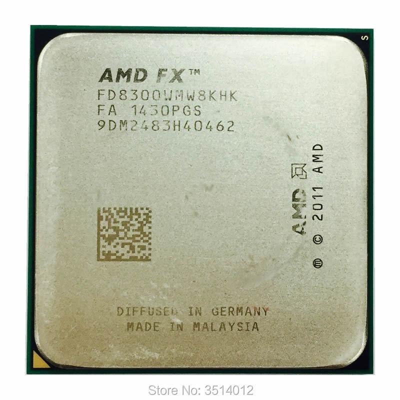 AMD FX Series FX 8300 FX 8300 FX8300 3 3 GHz Eight Core CPU Processor FD8300WMW8KHK