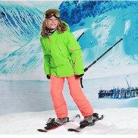 Верхняя одежда для детей до 20 30 градусов, зимний лыжный костюм с защитой от ветра, 5000лыжные куртки, штаны, детская зимняя одежда для девочек,