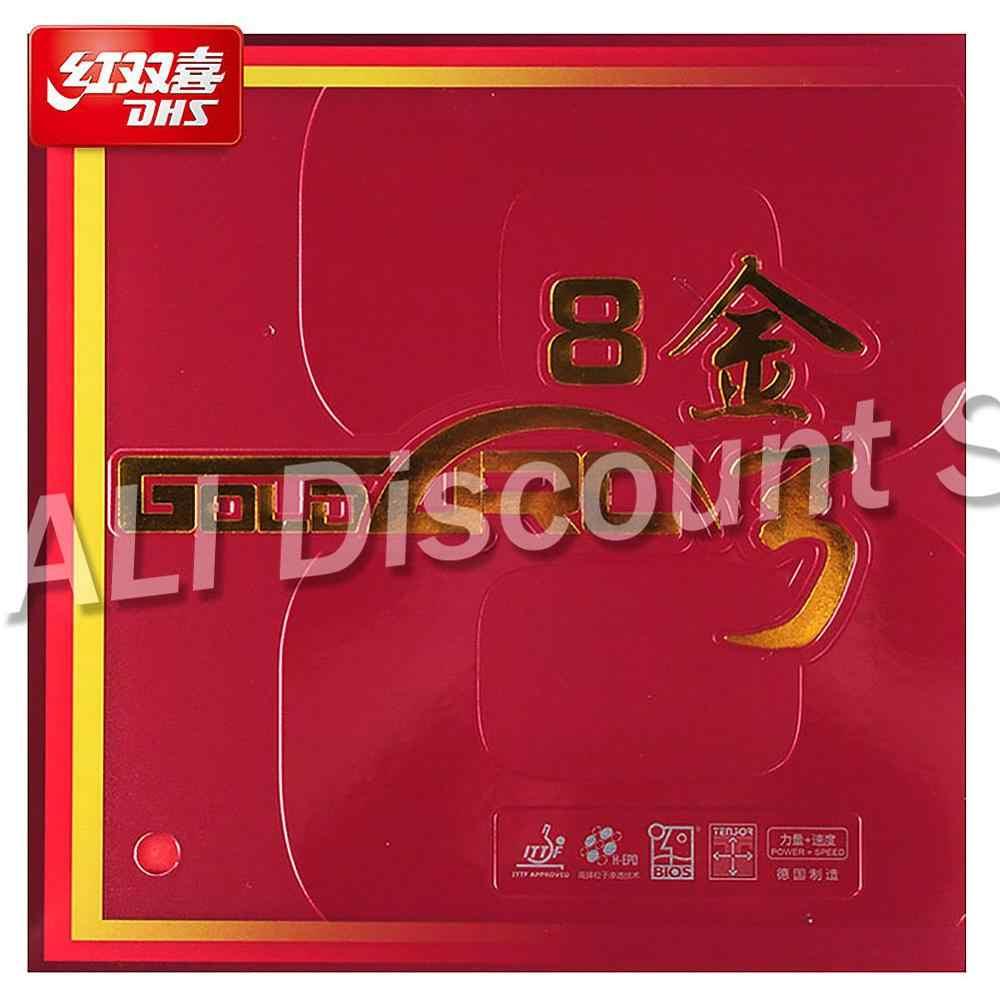 Orijinal DHS GoldArc 8 masa tenisi kauçuk kauçuk sivilce Ping Pong almanya kauçuk sünger ile ITTF onaylı
