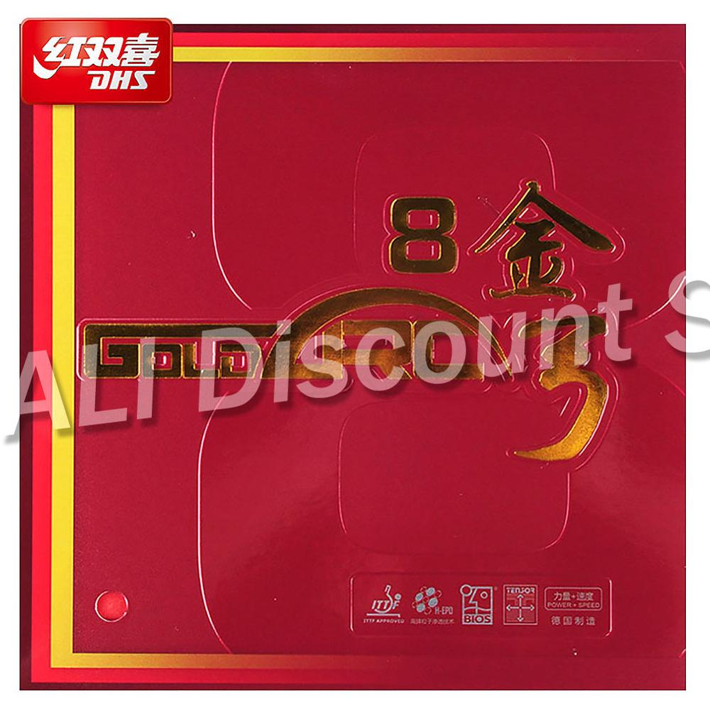 Picots en caoutchouc de caoutchouc de Ping-Pong de DHS GoldArc 8 originaux en caoutchouc de l'allemagne de Ping-Pong avec l'éponge ITTF approuvée