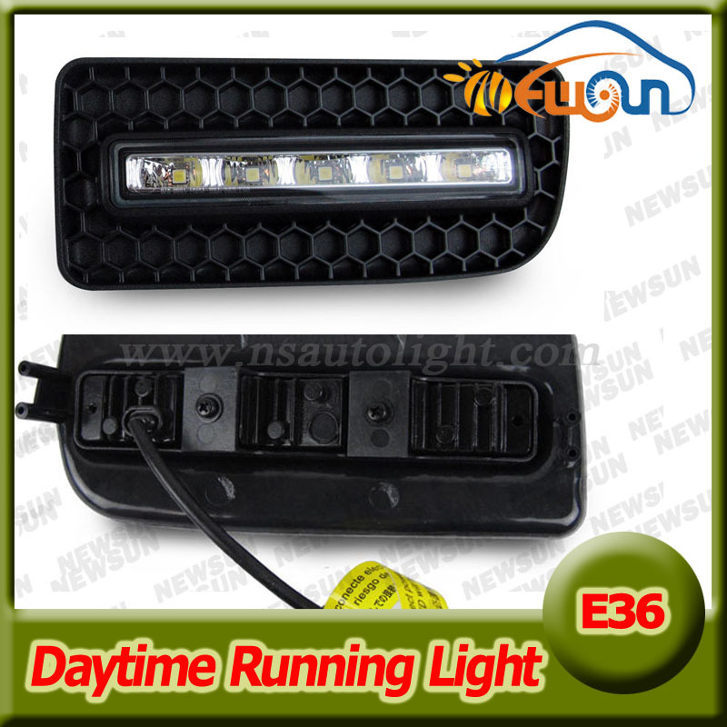 10W High Power LED Daytime Running Lights For BMW E36 M3 91-98 3 SERIES 2D/4D Bumper DRL Fog Light Xenon white daylight high quality light high power led daytime running lights for bmw e90 lci 3 series sedan 15w 2009 2012 freeshipping