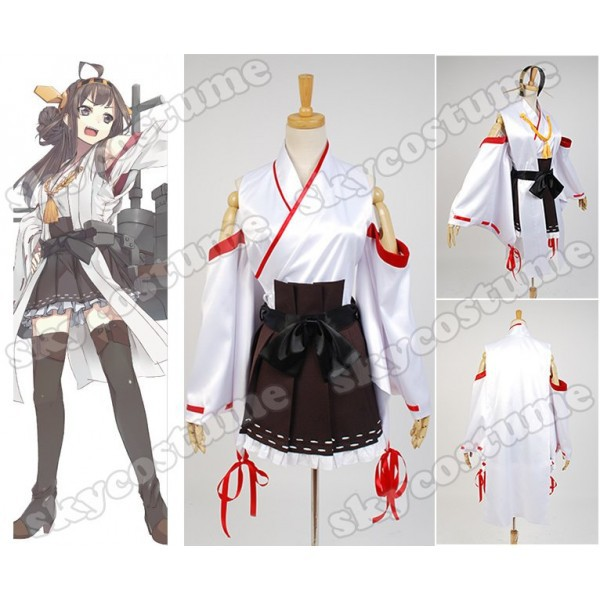 Kantai Collection KanColle Japanese Battleship Kongo Dress Anime Cosplay Costume Full Set