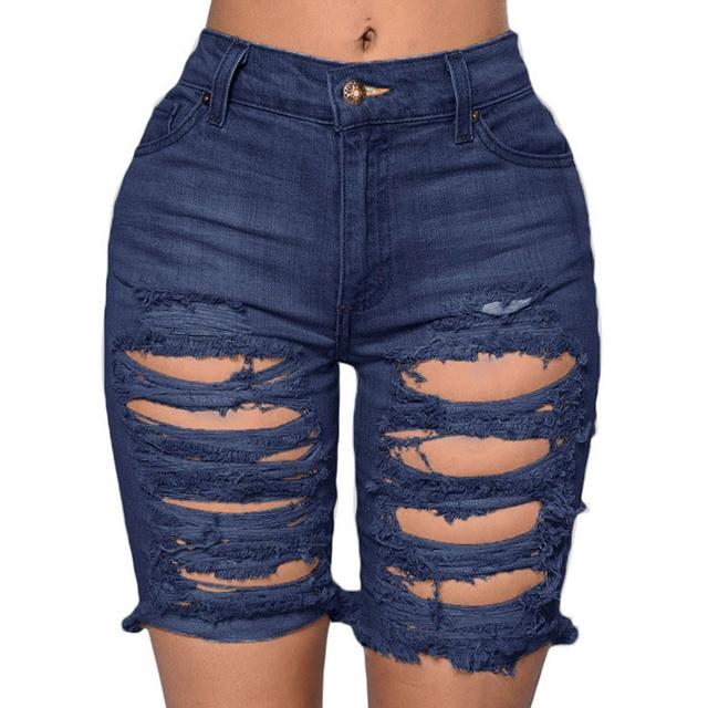 2016 битник летние женщины 2016 урожай изношены разорвал короткие feminino высокой талией джинсовые шорты альт ан жан талии haute femme