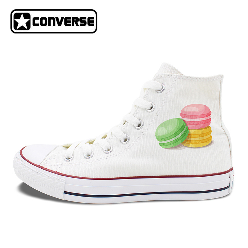 Original Shoes Womens Converse Design French Dessert Pastry Macaron Shoes Mens Canvas Sneakers Chuck Taylor All Stars french pastry murder