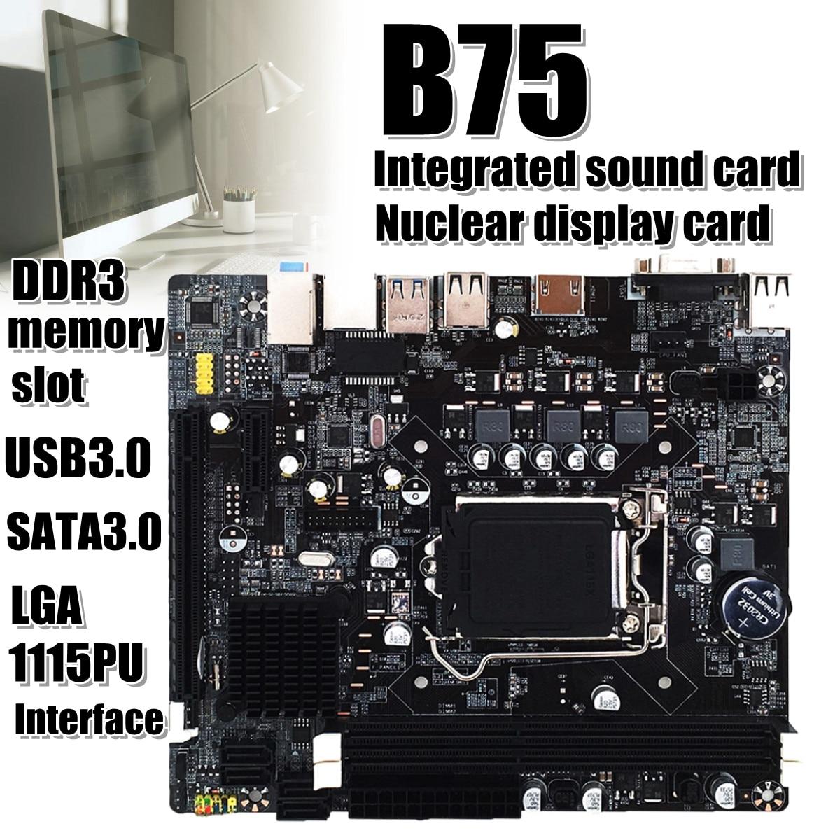 LGA B75 Motherboard Desktop Computer Mainboard Motherboard with dual USB 3.0 for DDR3 1600/1333/1066/1866