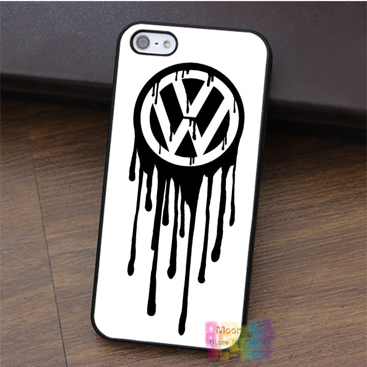 Watercolor Das Auto Volkswagen Logo fashion cell phone case for iphone 4 4s 5 5s 5c SE 6 6s 6 plus 6s plus 7 7 plus #LI3388