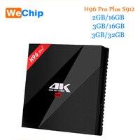 Original Wechip H96 PRO Android 6 0 TV Box Amlogic S912 OctaMali T820MP3 GPU 2G 16G