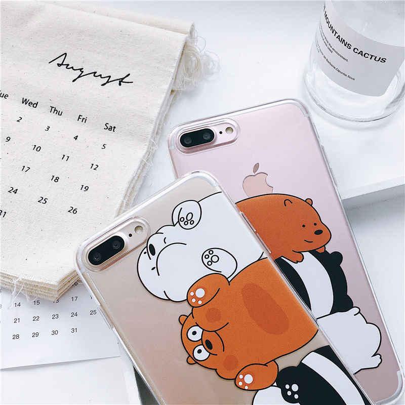نحن العارية الدببة موبايل أغطية الهاتف خزائن هاتف آيفون 11 برو 6 6s 6Plus 7 8plus لينة سليم تي بي يو لطيف ل آيفون X XS ماكس الحالات الهاتف