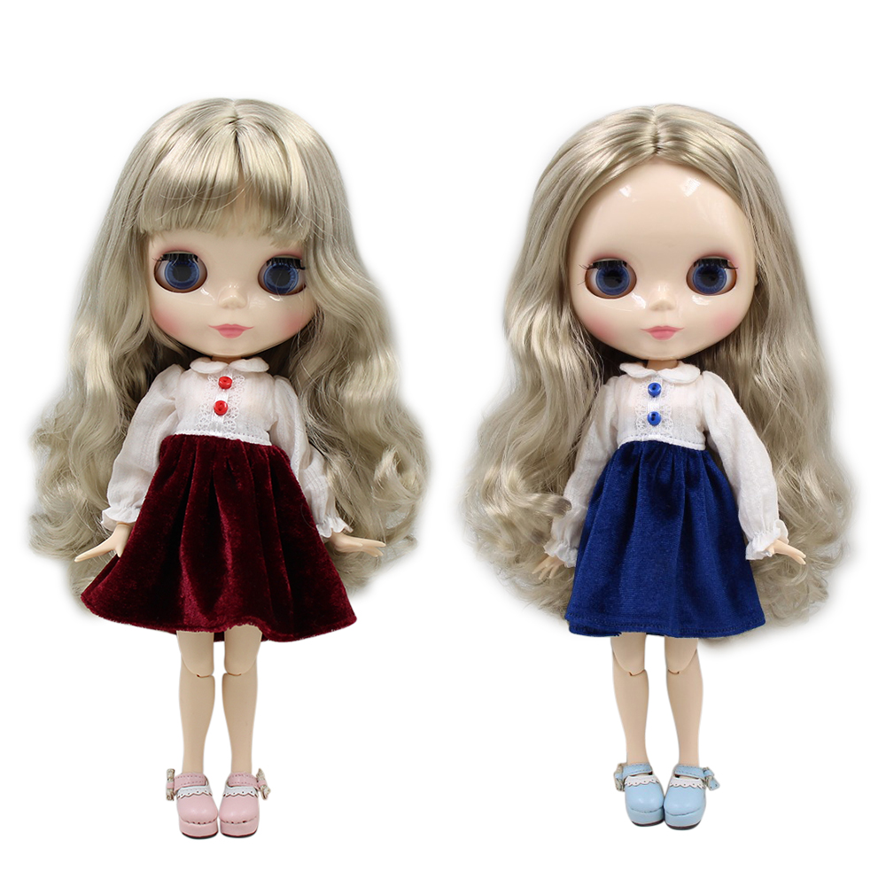 factory blyth doll bjd silver hair white skin joint body 30cm 1/6 230BL3167-in Dolls from Toys & Hobbies    1