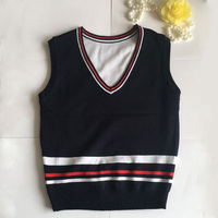 New Boys Girls Knitted Students Class School Uniform Vest